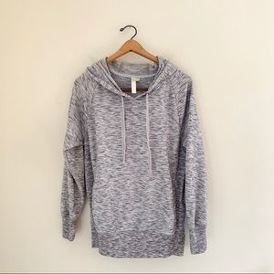 Green Tea Heather Gray Hooded Sweatshirt Lounge